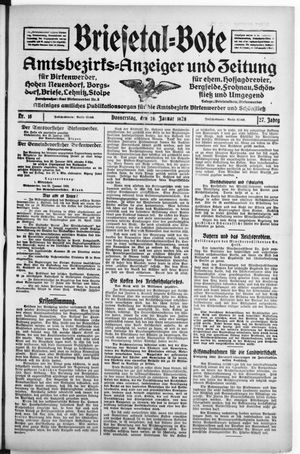 Briesetal-Bote vom 26.01.1928