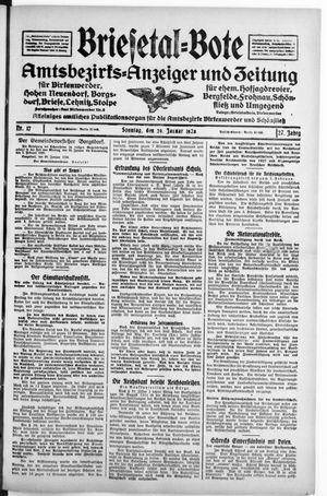 Briesetal-Bote vom 29.01.1928