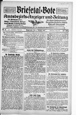 Briesetal-Bote vom 02.02.1928