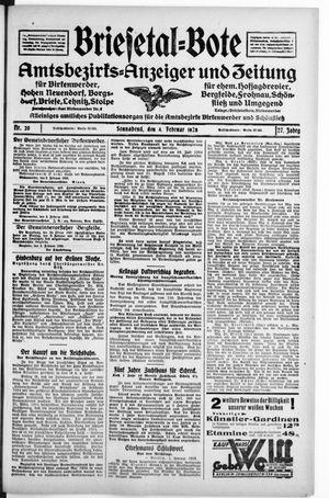 Briesetal-Bote vom 04.02.1928