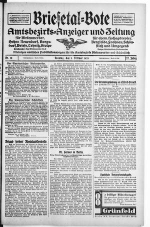 Briesetal-Bote vom 05.02.1928