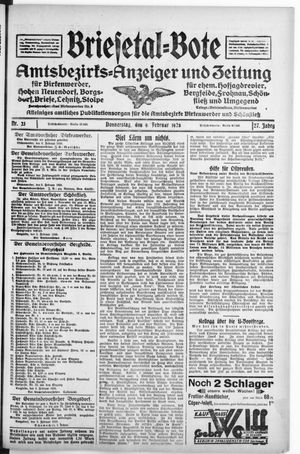 Briesetal-Bote vom 09.02.1928