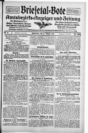 Briesetal-Bote vom 16.02.1928