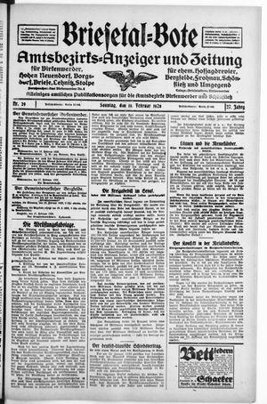 Briesetal-Bote vom 19.02.1928