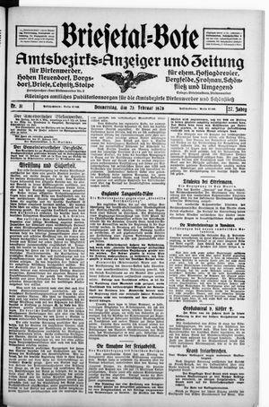Briesetal-Bote vom 23.02.1928