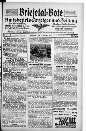 Briesetal-Bote on Feb 25, 1928