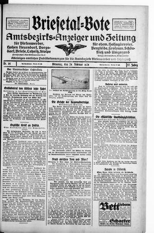 Briesetal-Bote vom 28.02.1928