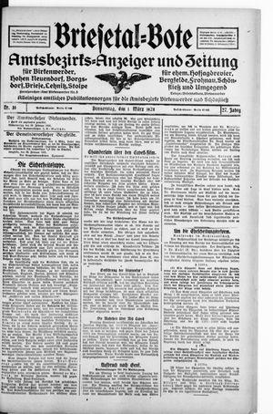 Briesetal-Bote on Mar 1, 1928