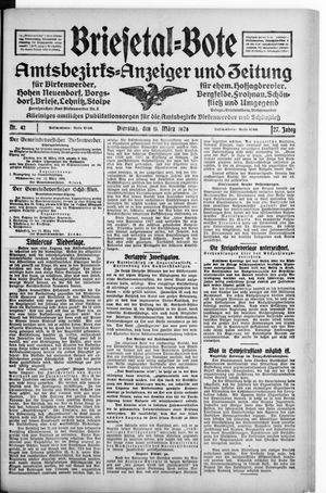 Briesetal-Bote vom 13.03.1928