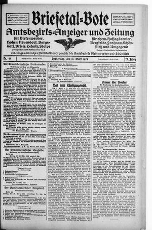 Briesetal-Bote vom 15.03.1928