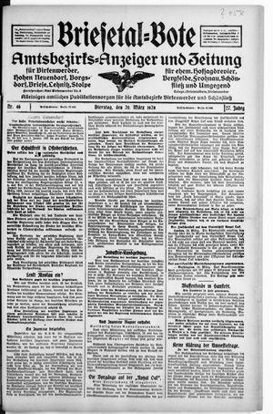 Briesetal-Bote vom 20.03.1928