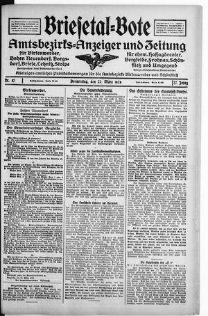 Briesetal-Bote vom 22.03.1928