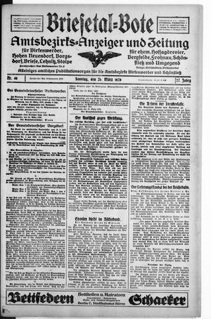 Briesetal-Bote vom 25.03.1928