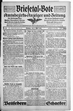 Briesetal-Bote vom 03.04.1928