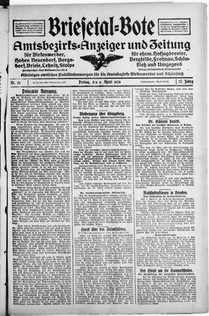 Briesetal-Bote vom 06.04.1928