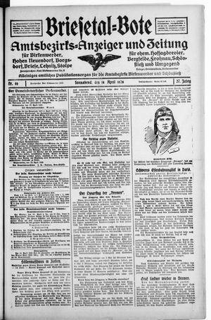 Briesetal-Bote vom 14.04.1928