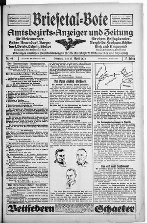 Briesetal-Bote vom 15.04.1928
