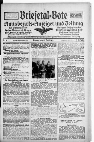 Briesetal-Bote vom 17.04.1928