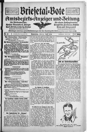 Briesetal-Bote vom 19.04.1928