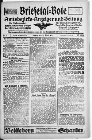 Briesetal-Bote vom 22.04.1928