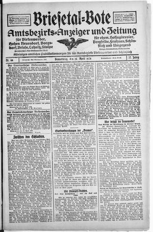Briesetal-Bote vom 26.04.1928