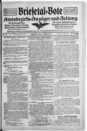 Briesetal-Bote vom 28.04.1928