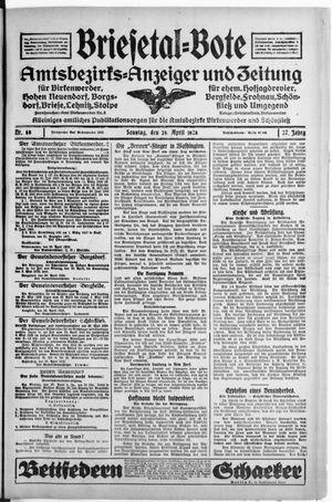 Briesetal-Bote vom 29.04.1928