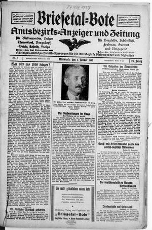 Briesetal-Bote vom 01.01.1930