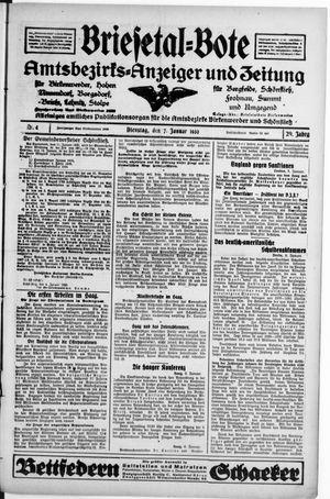 Briesetal-Bote vom 07.01.1930