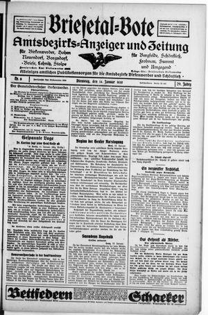 Briesetal-Bote vom 14.01.1930