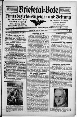 Briesetal-Bote vom 18.01.1930