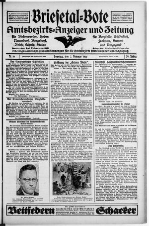 Briesetal-Bote vom 02.02.1930