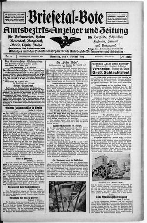 Briesetal-Bote vom 04.02.1930
