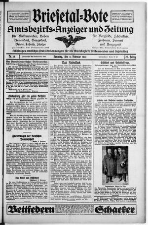 Briesetal-Bote vom 09.02.1930