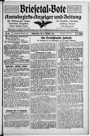 Briesetal-Bote vom 13.02.1930
