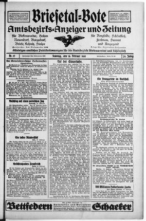 Briesetal-Bote on Feb 16, 1930