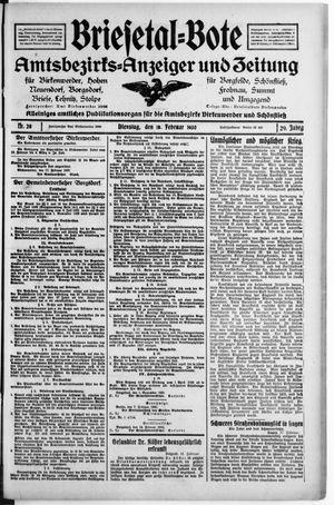 Briesetal-Bote vom 18.02.1930