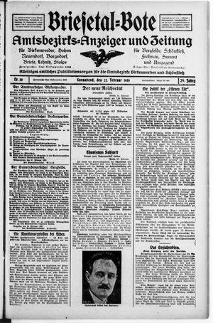 Briesetal-Bote vom 22.02.1930