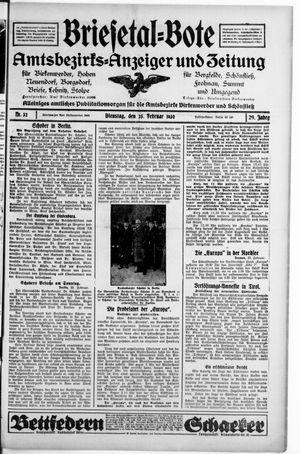 Briesetal-Bote vom 25.02.1930