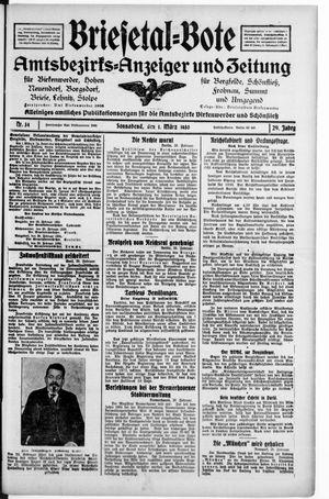 Briesetal-Bote on Mar 1, 1930