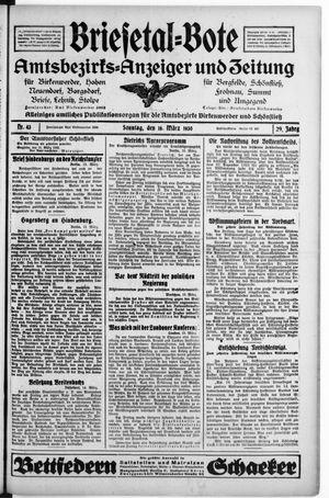Briesetal-Bote vom 16.03.1930