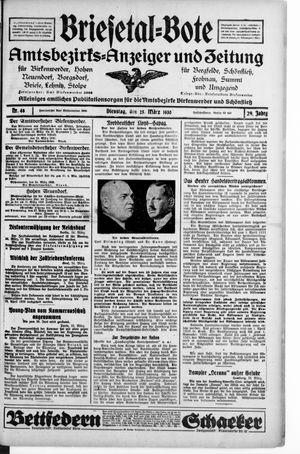 Briesetal-Bote vom 25.03.1930