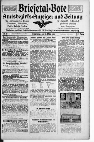 Briesetal-Bote vom 27.03.1930