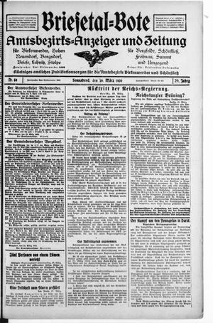 Briesetal-Bote vom 29.03.1930
