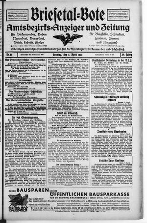 Briesetal-Bote vom 06.04.1930