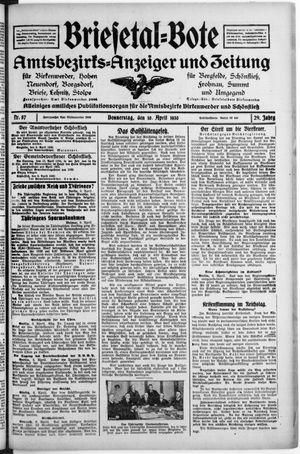 Briesetal-Bote vom 10.04.1930
