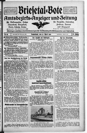 Briesetal-Bote vom 12.04.1930