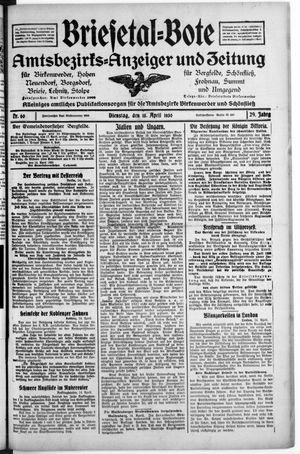 Briesetal-Bote on Apr 15, 1930