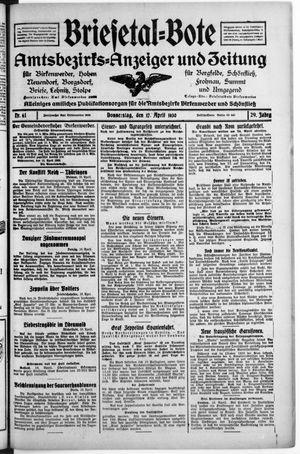 Briesetal-Bote vom 17.04.1930