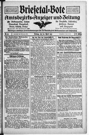 Briesetal-Bote vom 18.04.1930